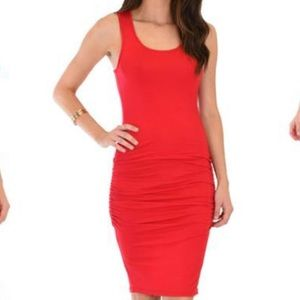 Hourglass Lilly red racerback mini dress ruched